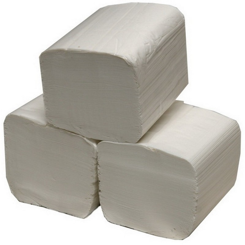 2ply White Interleaved Toilet Tissue