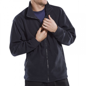 Navy Fleece Jacket Small