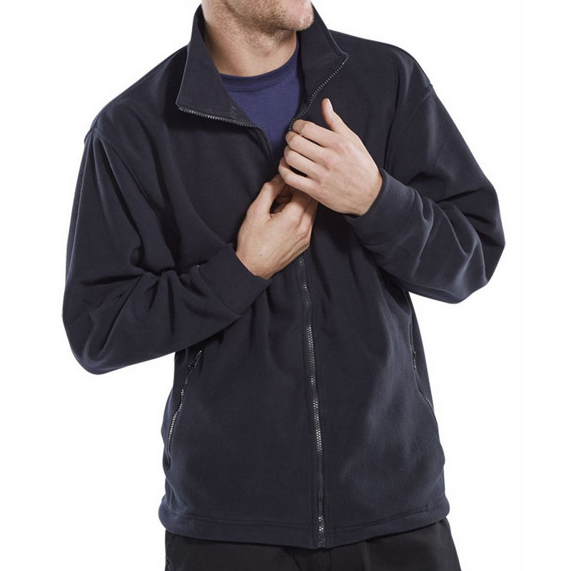 Navy Fleece Jacket XXXL