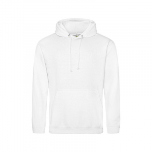 JH001 College Hoodie Arctic White Medium