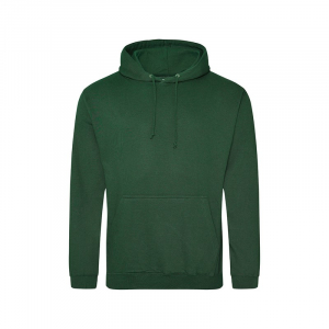 JH001 College Hoodie Bottle Green Large