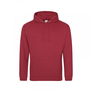 JH001 College Hoodie Brick Red Small