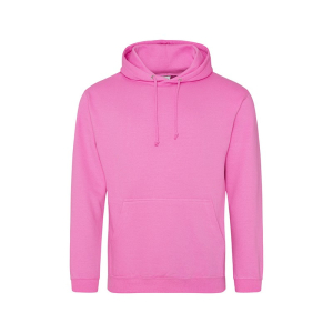 JH001 College Hoodie Candyfloss Pink Small