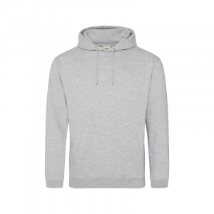 JH001 College Hoodie Heather Grey Large