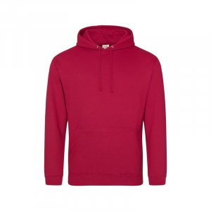 JH001 College Hoodie Red Hot Chilli Small