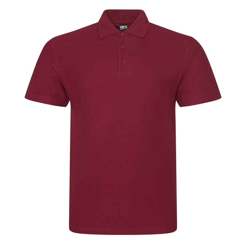 RX101 Pique Polo Shirt Burgundy Large