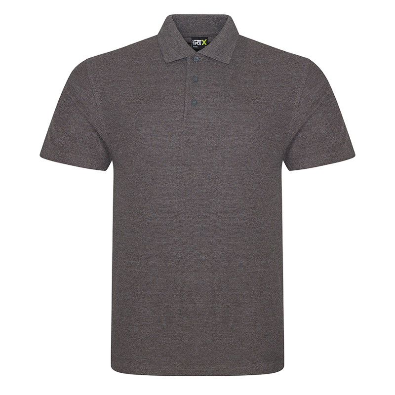 RX101 Pique Polo Shirt Charcoal XS