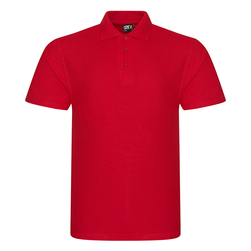 RX101 Pique Polo Shirt Red Large