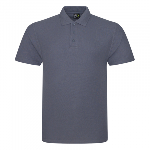 RX101 Pique Polo Shirt Solid Grey Large