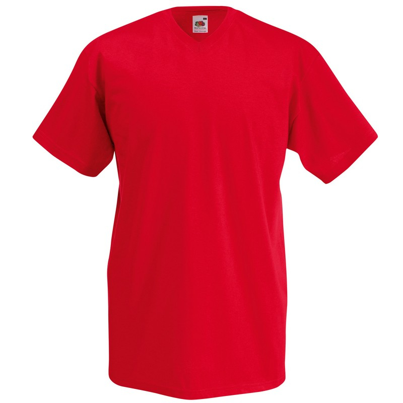 SS7 Value V-Neck T-Shirt Red Medium