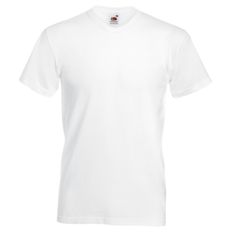 SS7 Value V-Neck T-Shirt White Medium