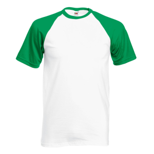 SS31 Baseball T-Shirt White/ Kelly Green Medium
