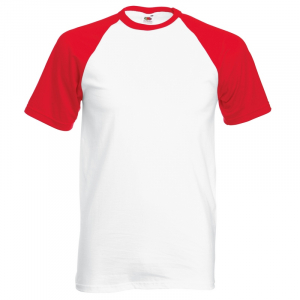SS31 Baseball T-Shirt White/ Red Medium